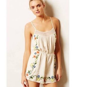 Anthropologie // Eloise embroidered romper